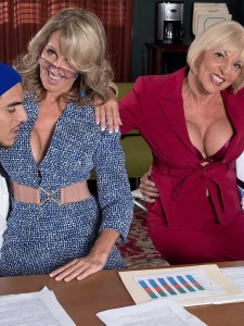 Hot over 50 milfs Jenna Covelli and Scarlet Andrews