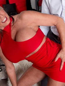 Sultry over 50 milf Sally D'Angelo is back for more cock